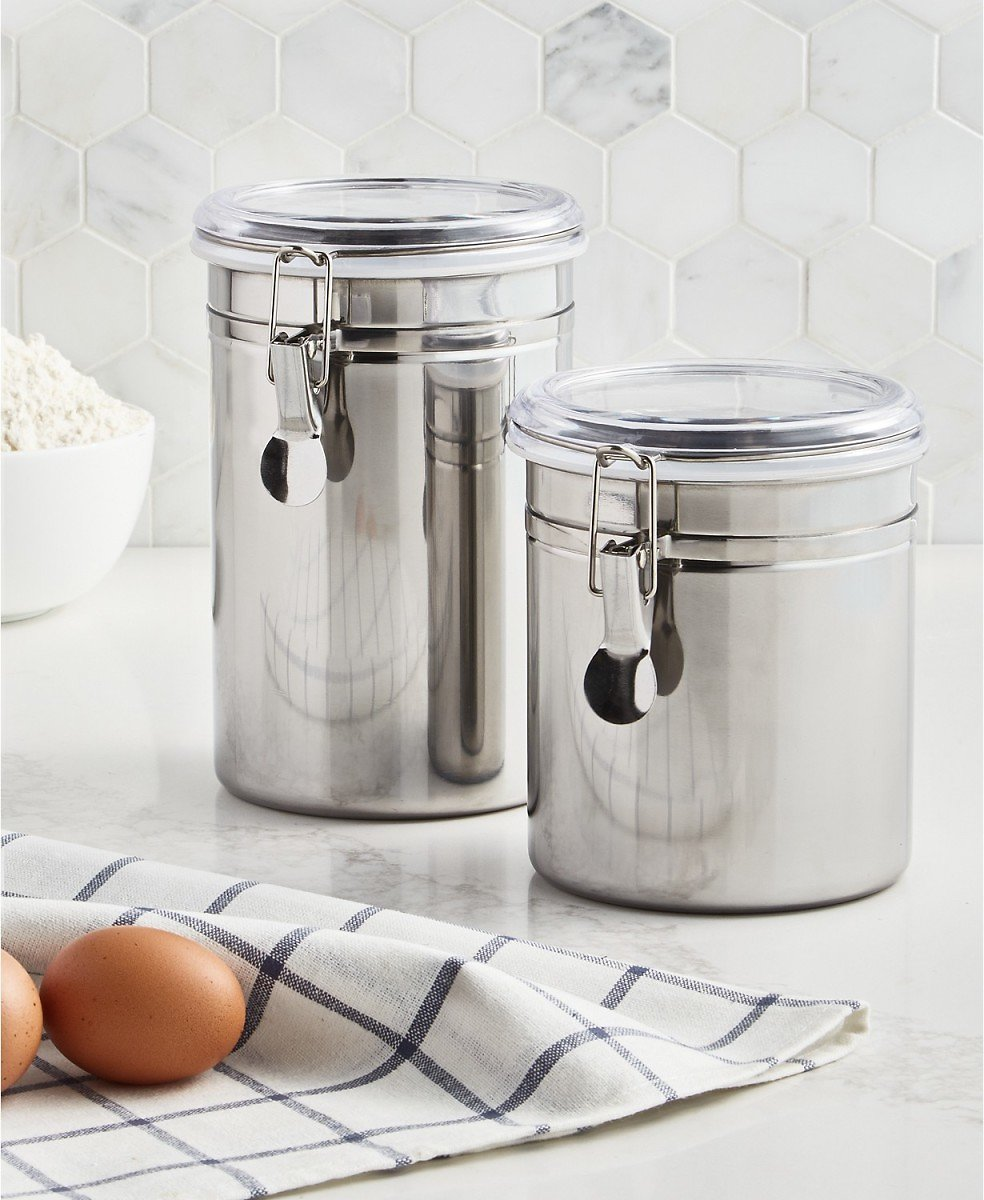Martha Stewart 2-Pc Food Storage Canister Set