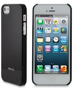 rooCASE Ultra Slim Gloss (Black) Shell Case for Apple iPhone 5 (9 diff. colors