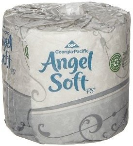 Georgia-Pacific Angel Soft ps 16880 White 2-Ply Premium Embossed Bathroom Tissue (Case of 80 Rolls, 450 Sheets Per Roll )