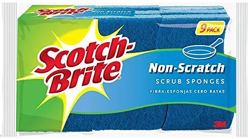 9-Ct Scotch-Brite Non-Scratch Scrub Sponges