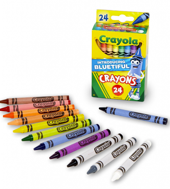 24-Count Crayola Classic Crayons Featuring Bluetiful