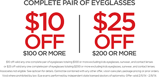 Offers & Discounts | JCP Optical
