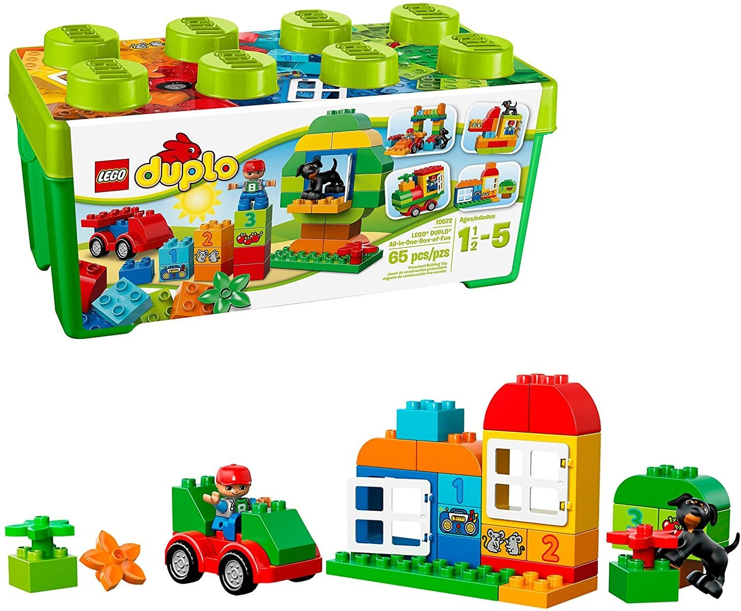 LEGO DUPLO All-in-One-Box-of-Fun Building Kit 10572 (65 Pieces)