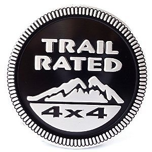 Amazon.com: Auto Car Trail Rated 4x4 for Jeep Nameplate Emblem Wrangler Decal Badge Sticker 2pcs (Black): Sports & Outdoors