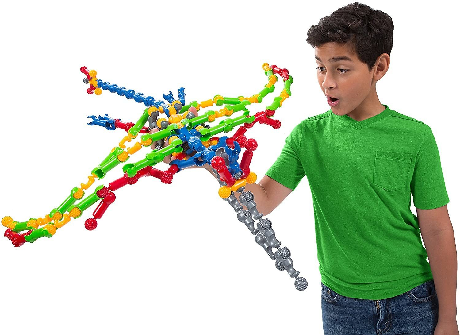ZOOB 125 Moving Mind-Building Modeling System, Assorted Colors, 125-Pieces