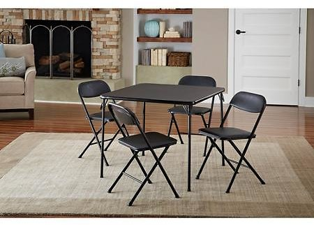 Cosco 5-Piece Card Table Set + Ships Free