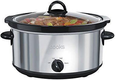 Cooks 6-Qt Stainless Steel Slow Cooker