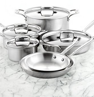 10-Piece All-Clad D5 Stainless Steel Cookware Set