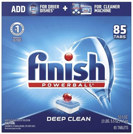 85-Ct Finish Powerball Dishwasher Detergent Tablets