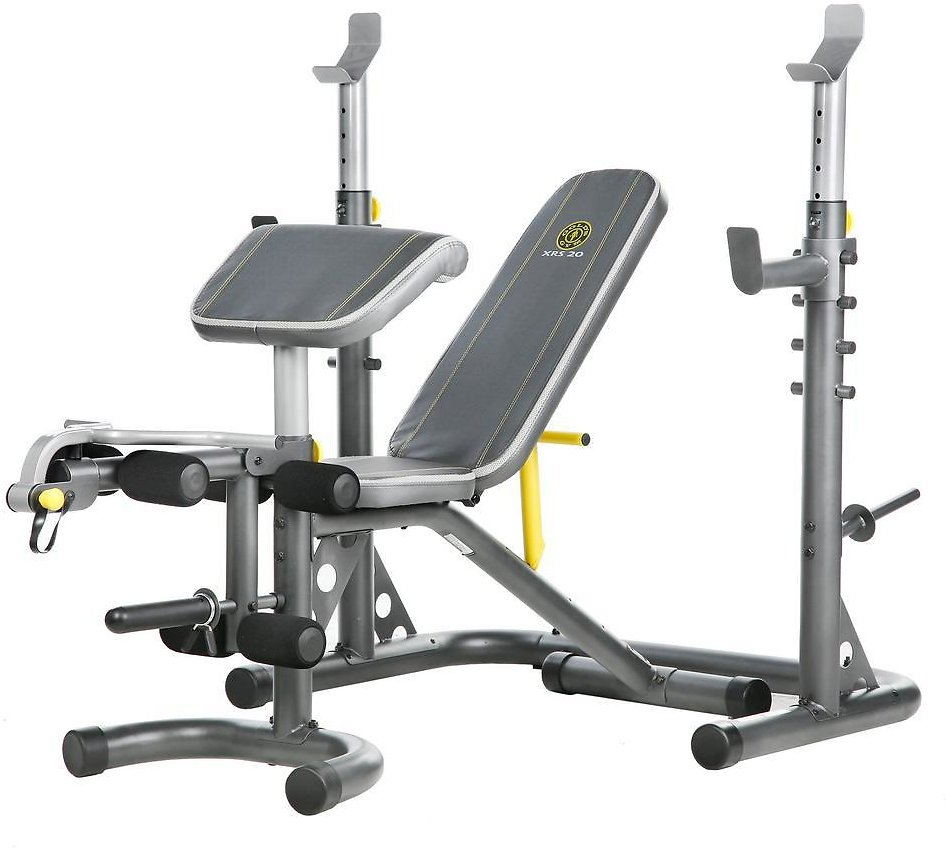 Gold's Gym XRS 20 Olympic Workout Bench w/Squat Rack