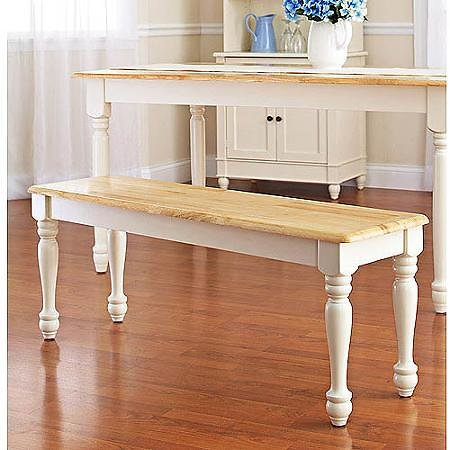 (Price Drop) Better Homes And Gardens Autumn Lane Farmhouse Bench, White And Natural