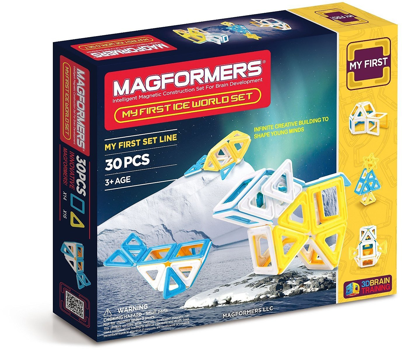 Magformers My First Ice World (30-pieces) Set Magnetic Building Blocks, Educational Magnetic Tiles Kit