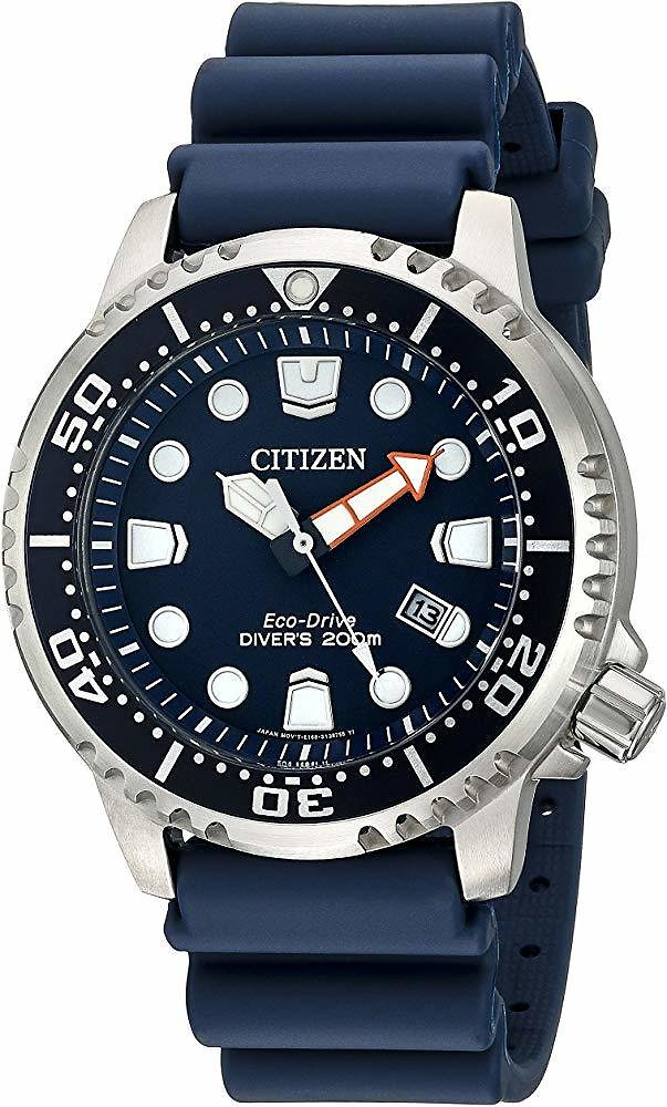 Prime Members | Citizen Eco-Drive Men's BN0151-09L Promaster Diver Watch With Blue PU Band