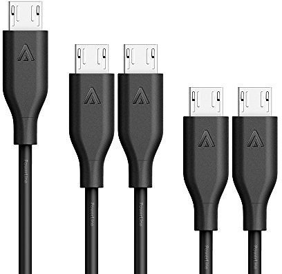 [5-Pack] Anker PowerLine Micro USB - The World's Fastest, Most Durable Charging Cable [Assorted Lengths]