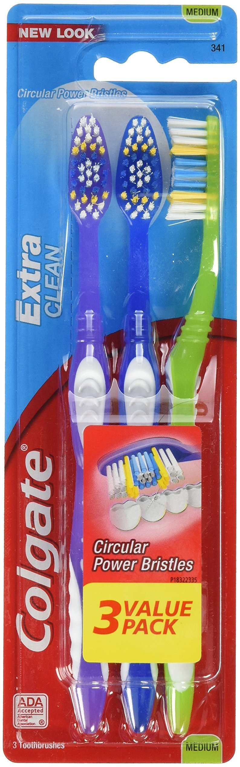 Colgate Extra Clean Full Head Toothbrush (3-Pack)