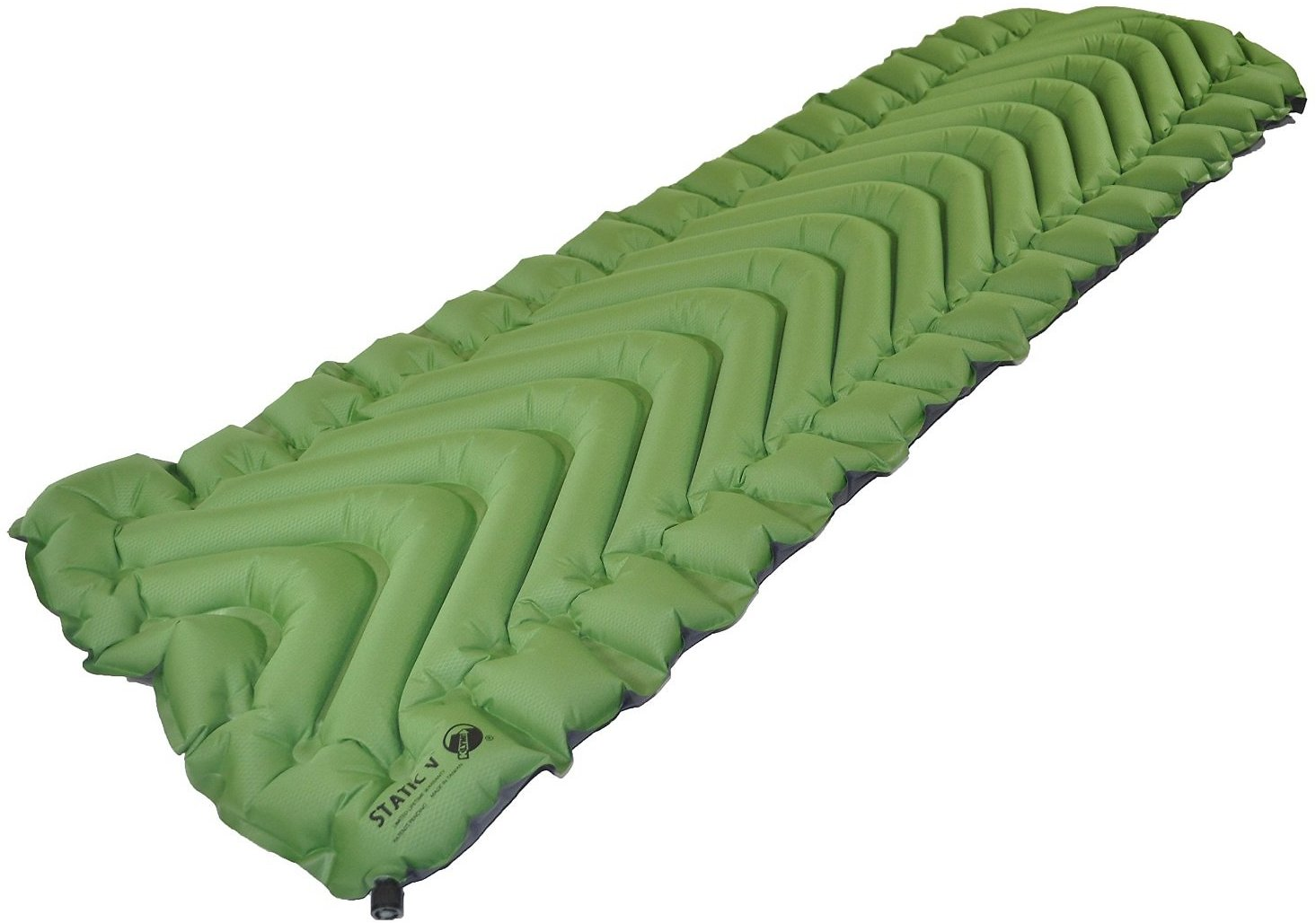 Klymit Static V Lightweight Sleeping Pad, Green/Char Black : Camping Air Mattresses : Sports & Outdoors