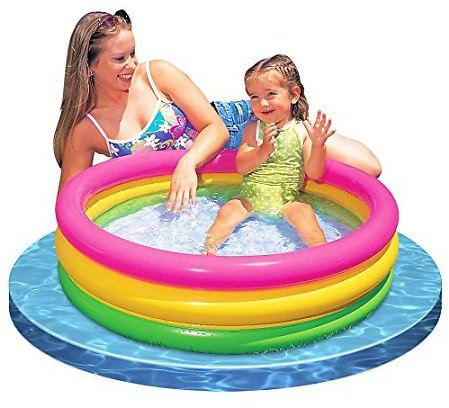 Save 10$/Intex Sunset Glow Inflatable Colorful Baby Swimming Pool | 58924EP
