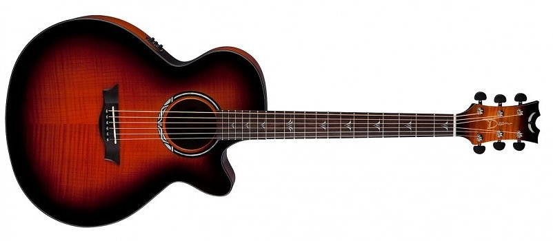 Dean PE-UFM-TGE Performer Ultra Acoustic Electric Flamed Ash Top Aphex Aural Exciter Electronics Tiger Eye