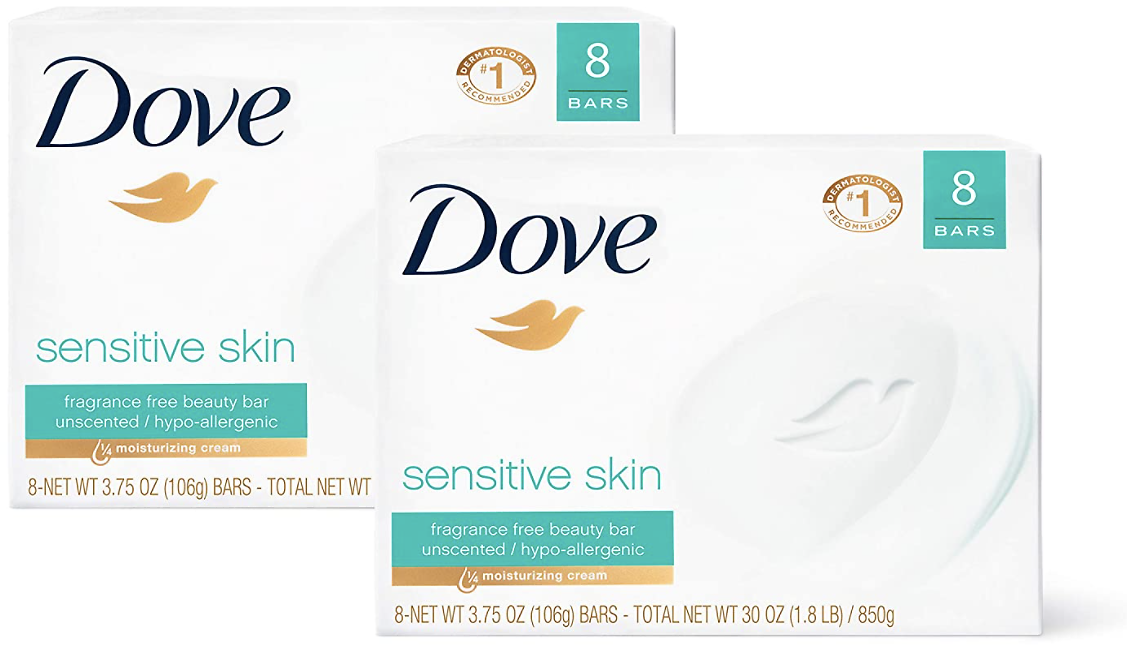 Buy TWO 16-Count Dove Beauty Bars