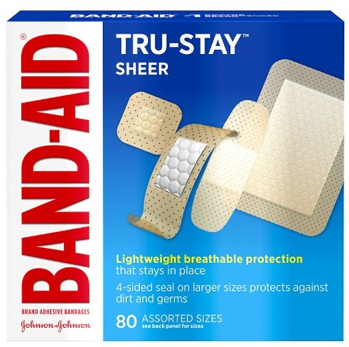 160Ct Band-Aid Brand Tru-Stay Sheer Strips Adhesive Bandages