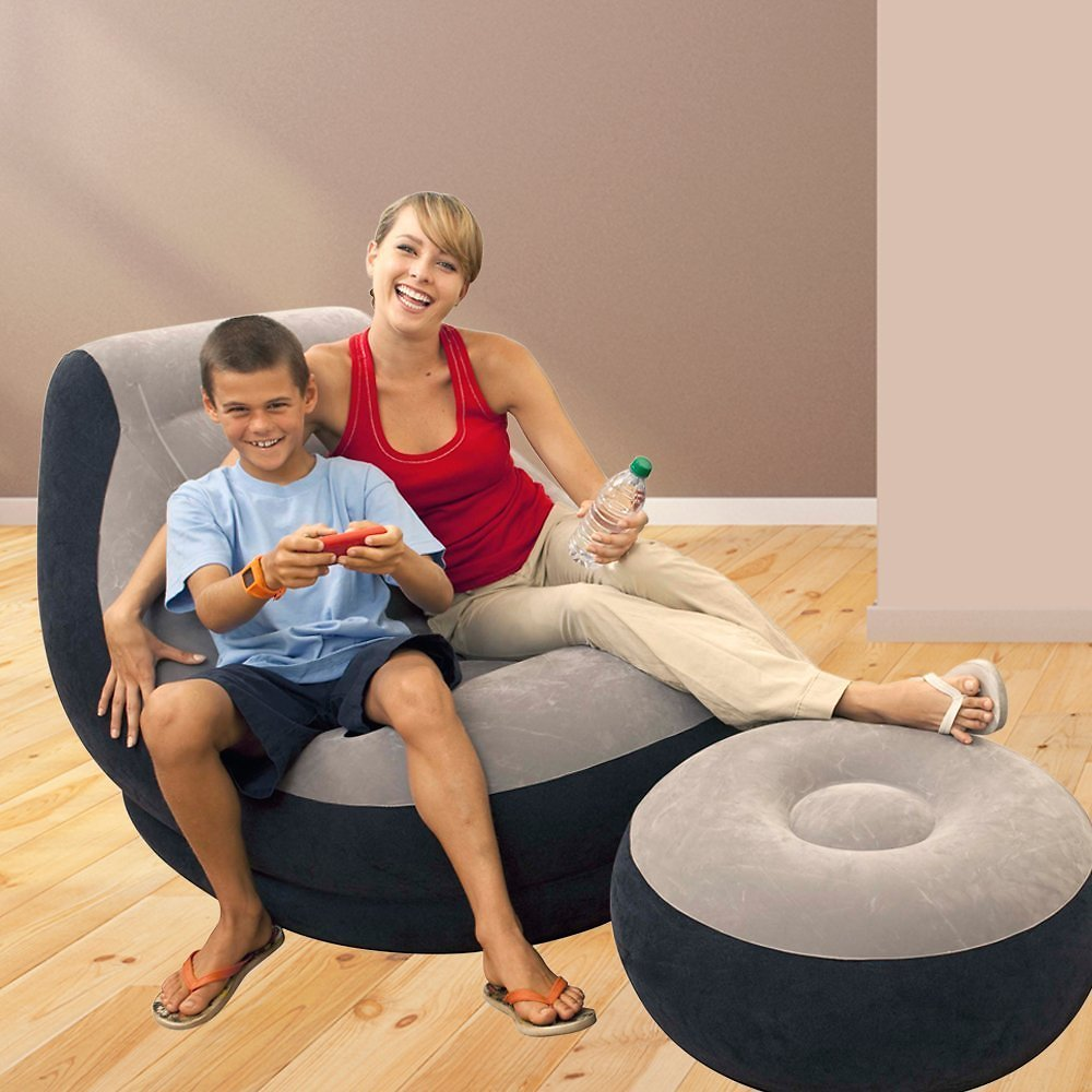 Intex Inflatable Ultra Lounge with Ottoman (Ships Free)