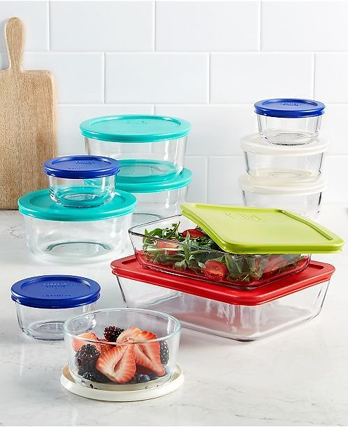 22-Pc Pyrex Glass Food Container Set ON SALE