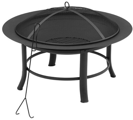 Mainstays Fire Pit w/ Cover & Spark Guard