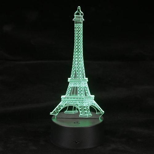 High Quality 3D Optical Illusion LED Table Night Light Remote Control USB Cable Battery Operated Desk Lamp Valentine's Day Halloween Wedding Decorations Eiffel Tower Multicolored from Tomtop.com