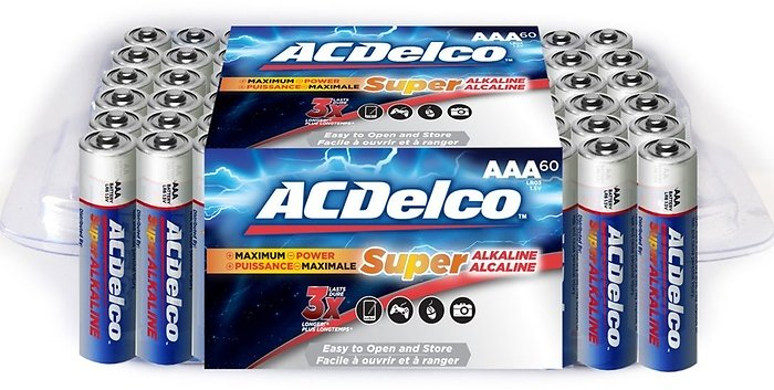ACDelco Re-Closeable Pack AA or AAA Batteries (60-Pack) | Groupon