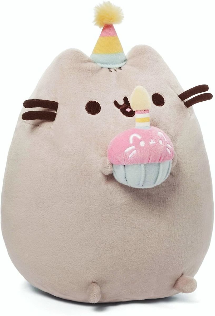 GUND Pusheen Snackables Birthday Cupcake Plush Stuffed Animal, 10.5