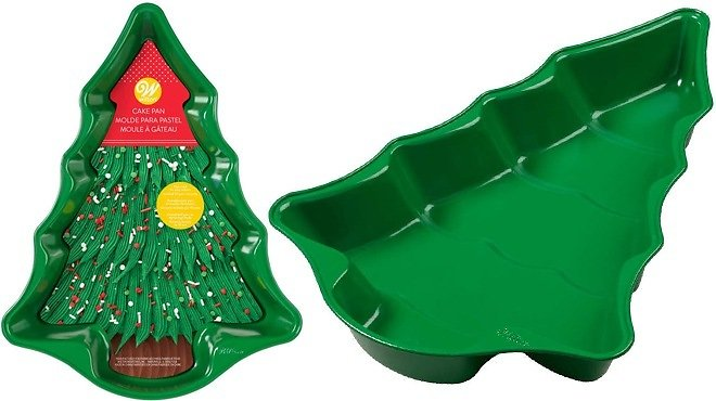 Wilton® Christmas Tree Nonstick Cake Pan in Green