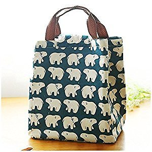 Mziart Reusable Cotton Insulated Lunch Bag (Select Patterns)