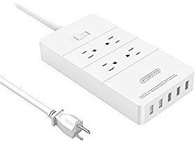 Save 50% off NTONPOWER 4 Outlet & 4 Port USB Power Strip Surge Protector