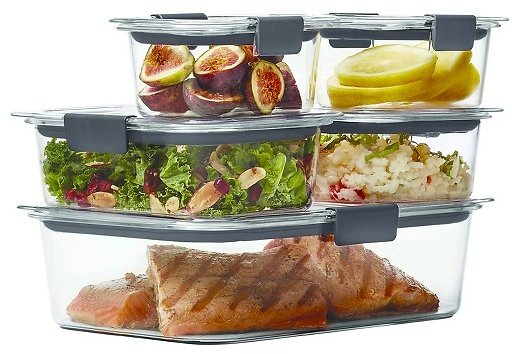 10-Piece Rubbermaid Food Storage Container Set