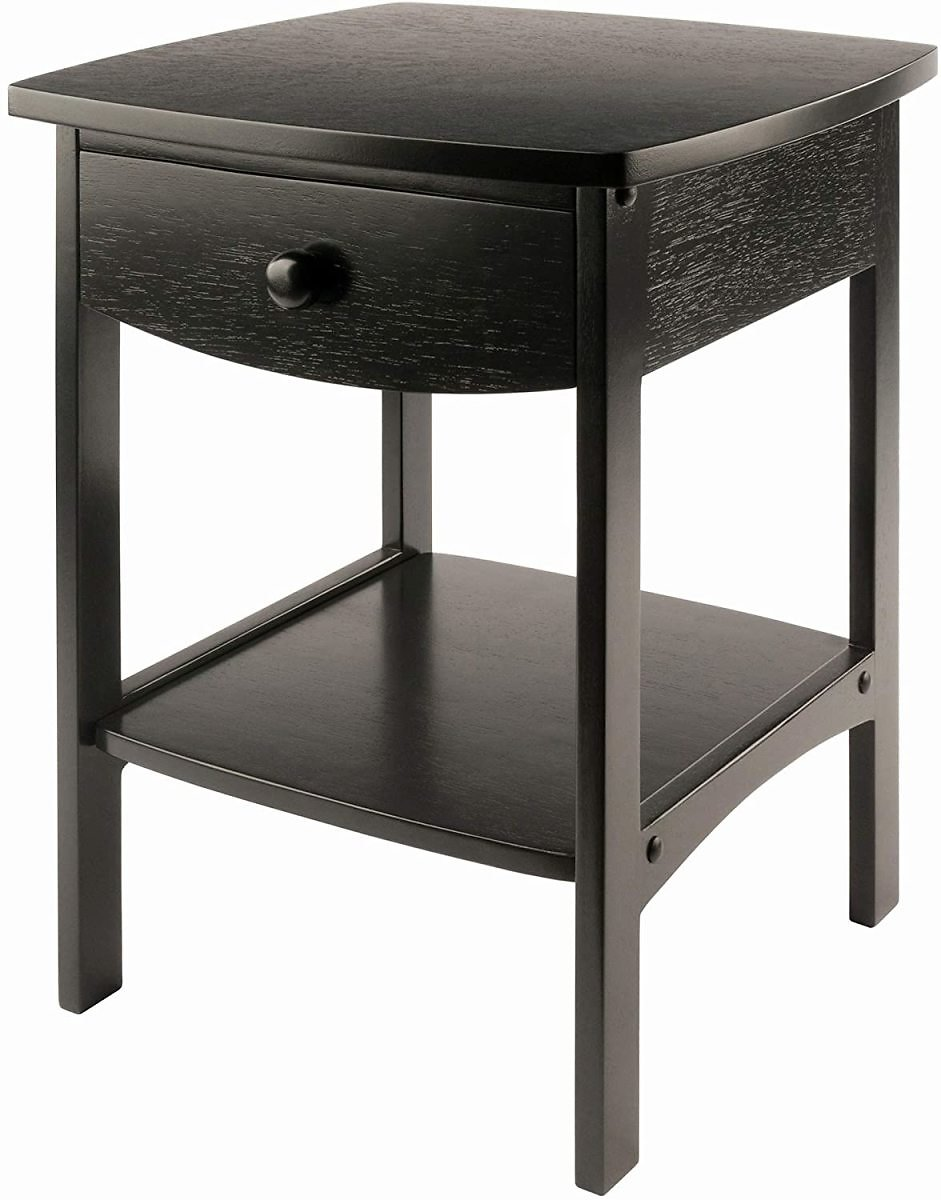 Winsome Wood Claire Accent Table, Black