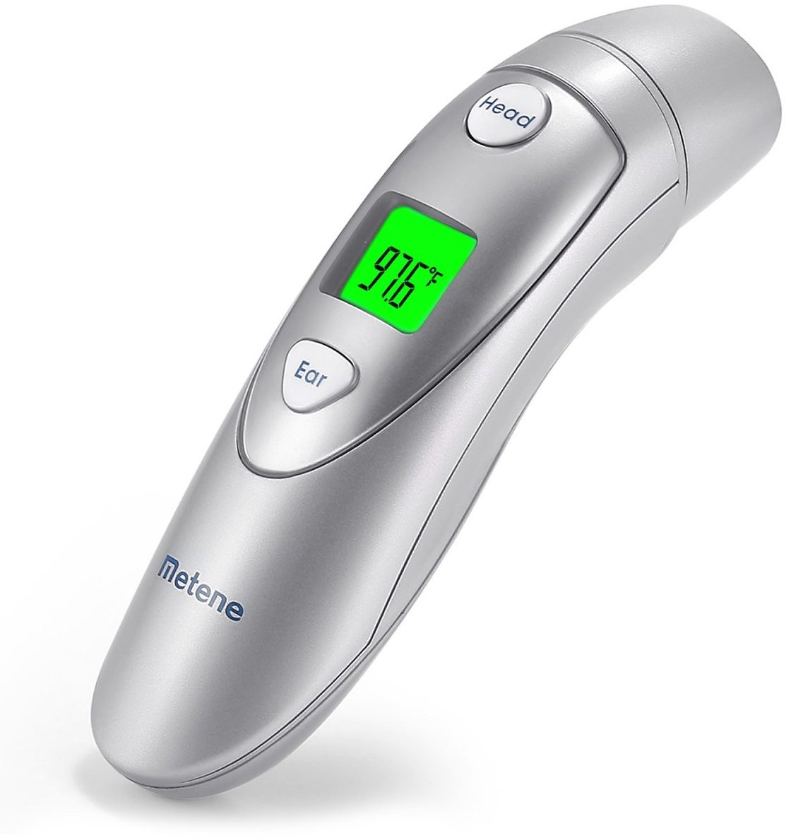 Metene Medical Forehead and Ear Thermometer for Fever ,Infrared Digital Thermometer Suitable For Baby, Kids and Adults with FDA and CE Approved