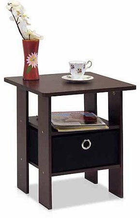 Furinno End Table w/ Bin Drawer (3 Colors)