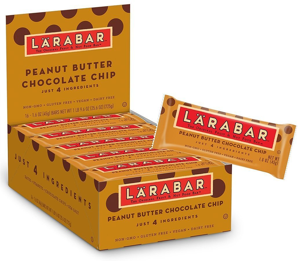 16 Larabar Gluten Free Bar, Peanut Butter Chocolate Chip, 1.6 Oz Bars