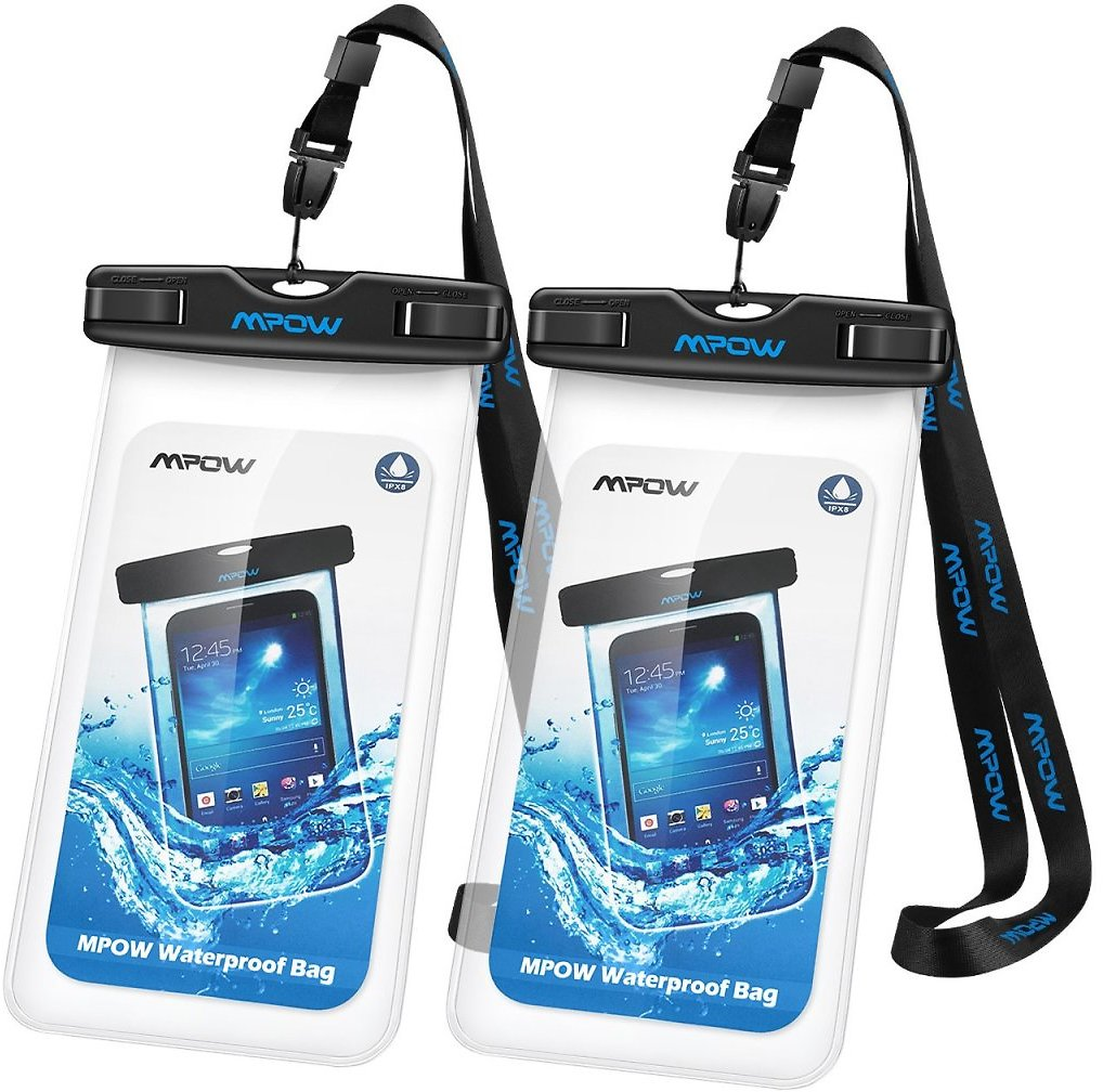 Mpow 097 Universal Waterproof Case, IPX8 Waterproof Phone Pouch Dry Bag Compatible for iPhone Xs Max/XR/X/8/8P/7/7P Galaxy up to