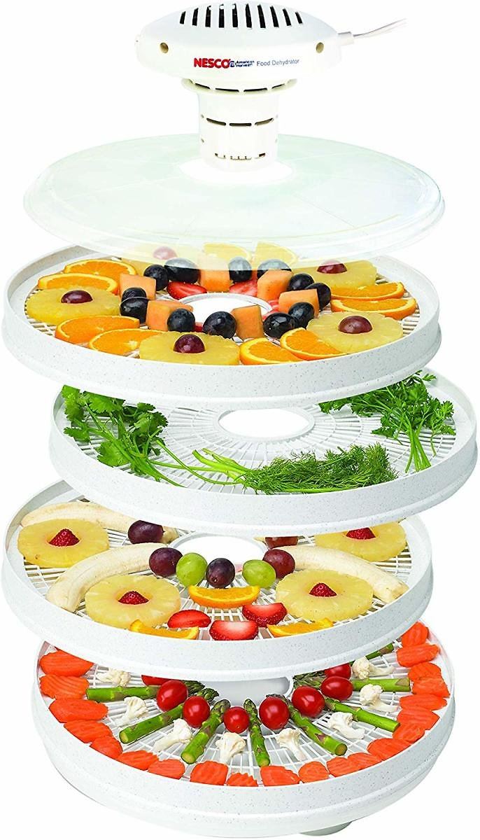 NESCO Food Dehydrator, White Speckled/Marbled, 400 watts
