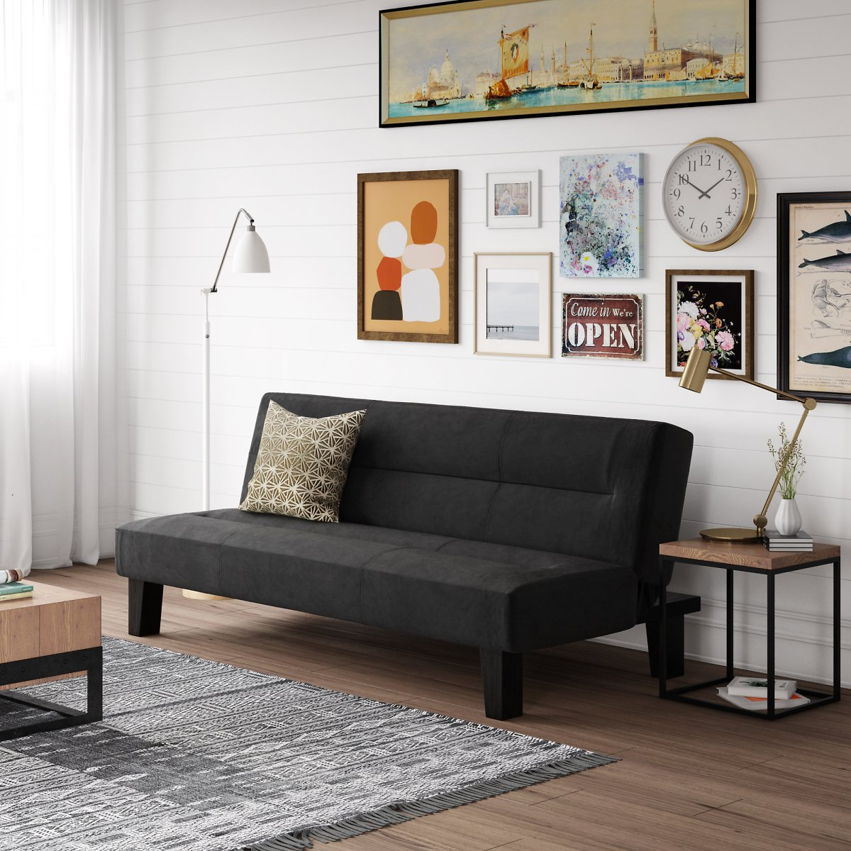 Kebo Futon Couch (5 Colors) + Ships Free