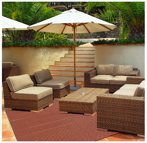 6-Pack Pure Garden Interlocking Patio Floor Tiles