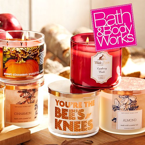 3-Wick Candles for $10.95