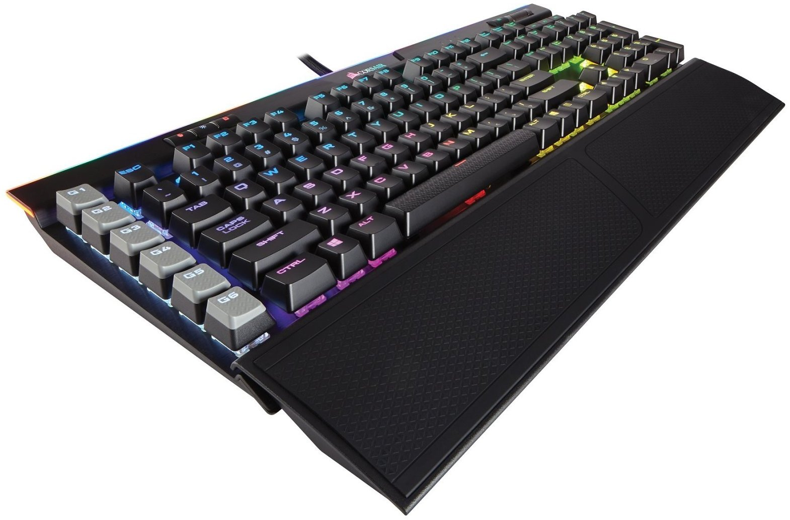 Corsair Gaming K95 RGB PLATINUM Mechanical Keyboard, Cherry MX Speed, Black (CH-9127014-NA)