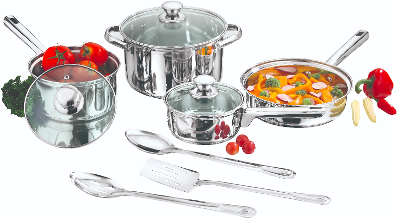 10-pc Mainstays Stainless Steel Cookware Set