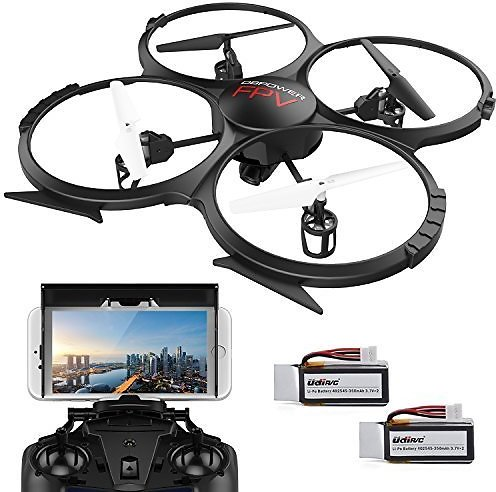 DBPOWER Drone U818A Discovery FPV WiFi Drones with Camera for Beginners/Kids/Teens,Quadcopter UAV with Altitude Hold/Headless
