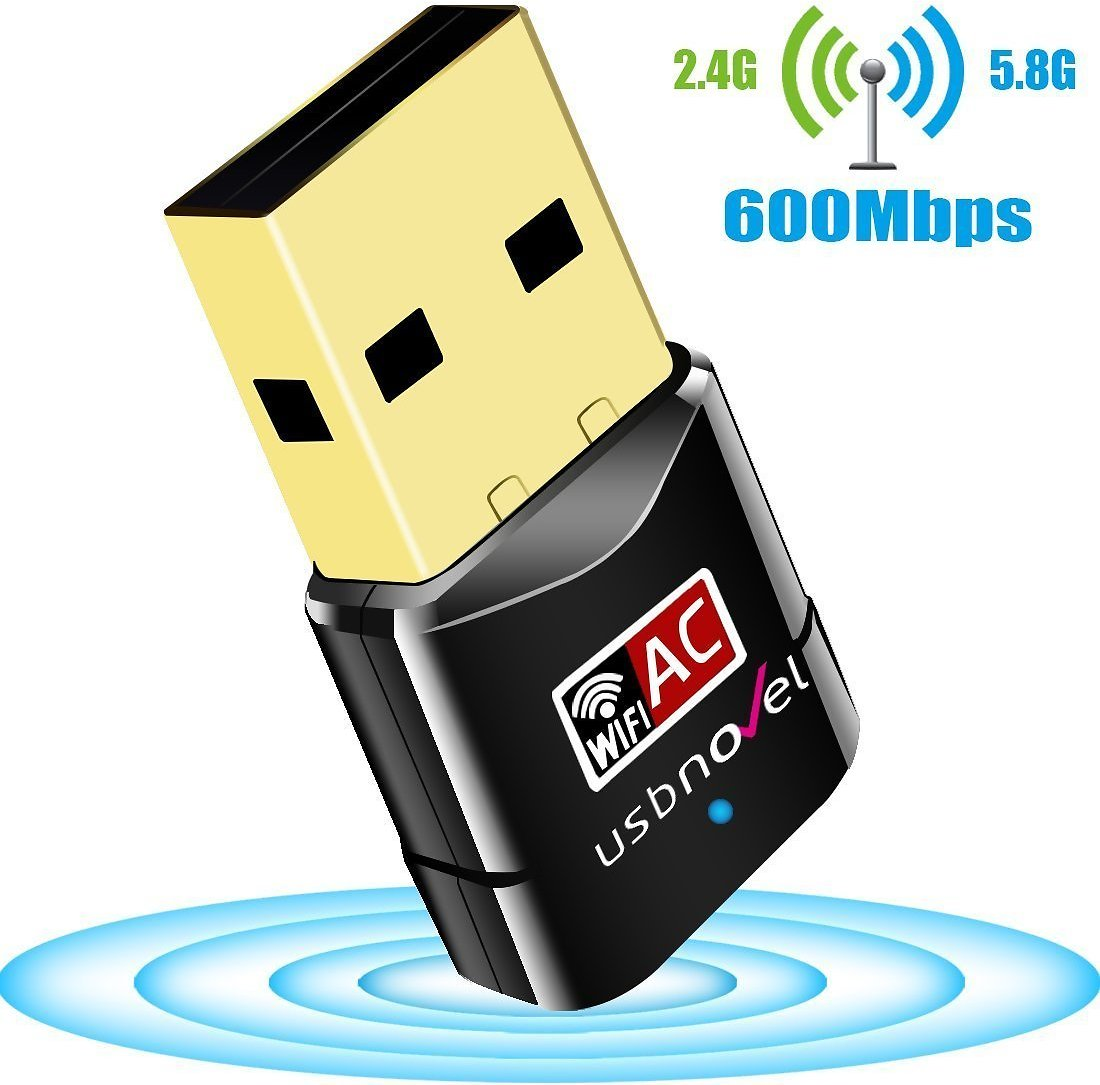 USBNOVEL USB WiFi Adapter 600Mbps Dual Band 2.4G / 5G Wireless WiFi Dongle Network Card