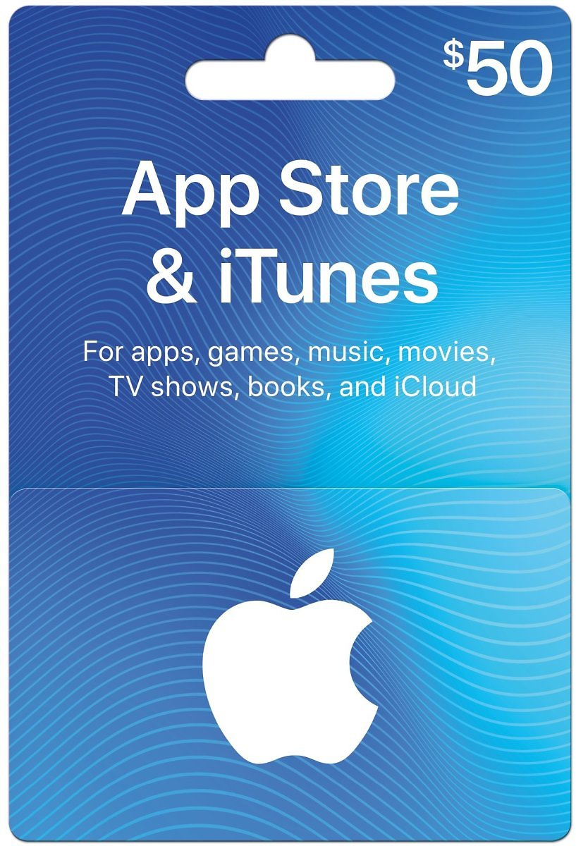 $50 Apple App store iTunes gift card for $40