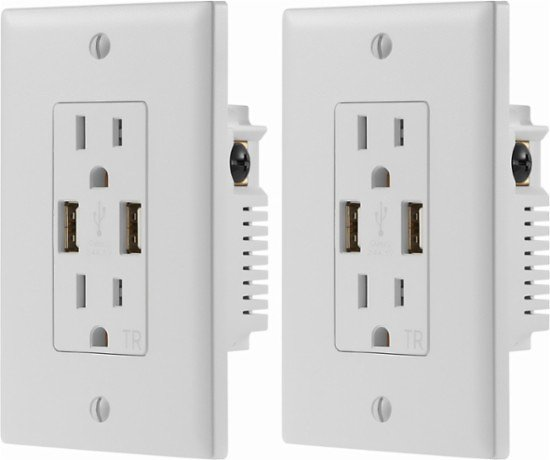 2-Pack Dynex 2.4A USB Wall Outlet