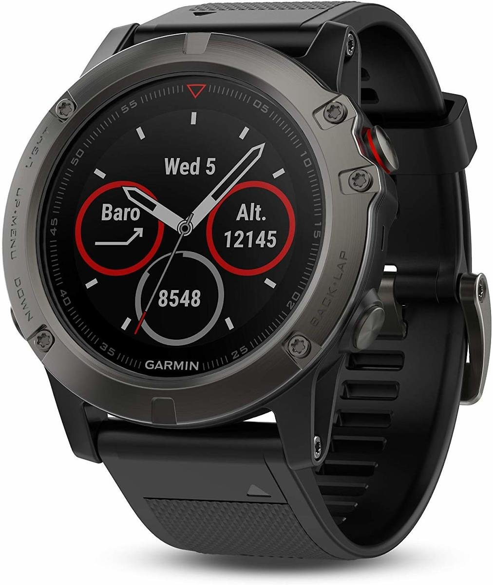 Today Only! Garmin Fenix 5X Sapphire - Slate Gray with Black Band